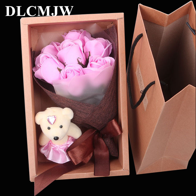 Artificial Flower Rose Bouquet Gifts box Soap Flower Romantic Valentine's Day Mother's Day Birthday Gift decor Fake Flower|Artificial & Dried Flowers|   - title=