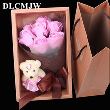 Artificial Flower Rose Bouquet Gifts box Soap Flower Romantic Valentine's Day Mother's Day Birthday Gift decor Fake Flower