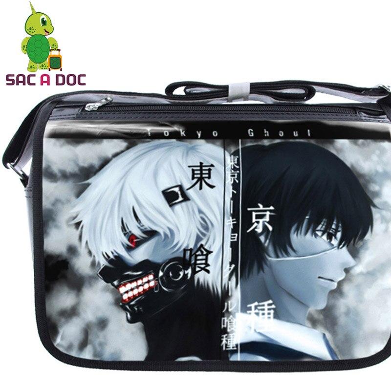Shoulder-Bag Book-Bags Crossbody Womens Cool for Students Teens Boys Girls Tokyo Ghoul