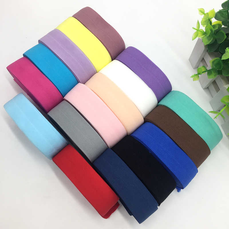 "18 Colors 5 Yards 1""(25mm) Elastic Band Multirole Spandex Ribbon Sewing Lace Trim Waist Band Garment Accessory"