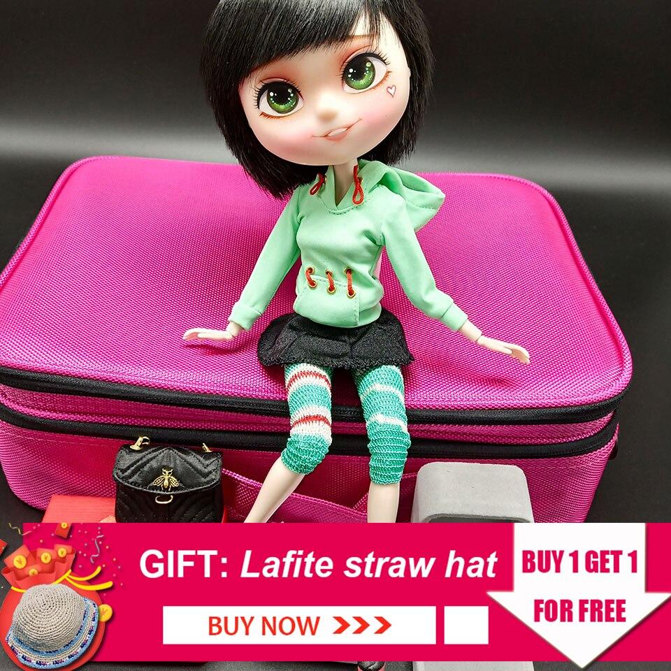 Joli modèle de poupée mignon Bjd 1/6 modèle fille 26-27 cm poupée à rotule avec exquise Collection de maquillage bricolage Dressup jouets