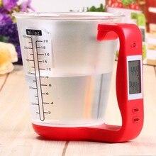 Бытовой кухня воды мерный стакан весы 1 кг ЖК дисплей кухонные взвешивающие приборы