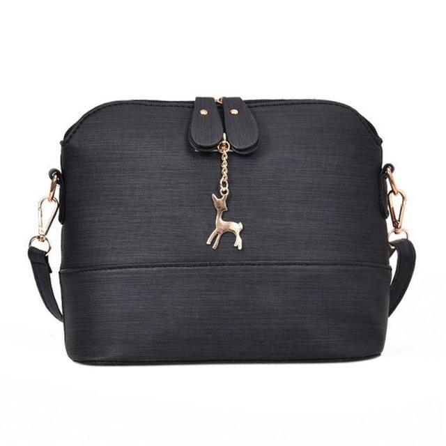 Shoulder Bags Women 2018 Fashion Mini Bag With Deer Toy Shell Shape Women  Small Messenger Crossbody Bag Ladies Zipper HandBags 7f55cf0581013