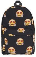 New double shoulder Backpack Black bottom Emoji primary school students Backpack Travel Backpack three-dimensional printing Euro