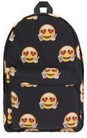New double shoulder Backpack Black bottom Emoji primary school students Backpack Travel Backpack three dimensional printing Euro