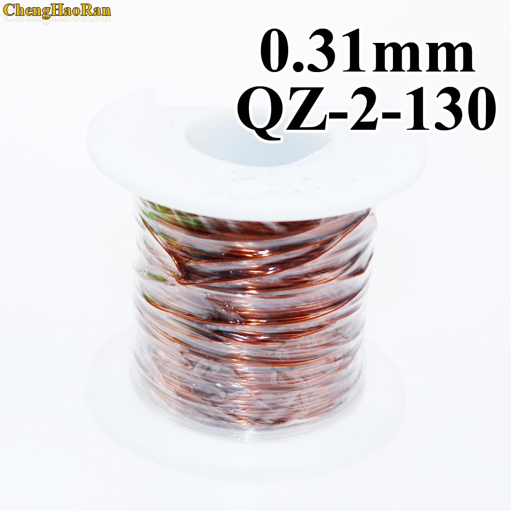 ChengHaoRan 0 31mm 1 meter QZ 2 130 Polyester Enameled Copper Wire Repair wire 1m in Computer Cables Connectors from Computer Office