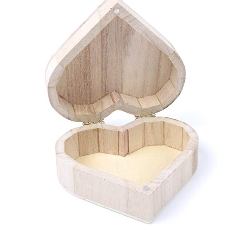 Us 1 99 20 Off Wooden Storage Bins Cheap Small Wooden Boxes Organizer Heart Shape Wooden Gift Boxes 10 8 4 Cm Jewelry Box Hardware Wedding Gift In