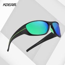 KDEAM Fashion Sunglasses Men TR90 Light Frame TAC Polarized Classic Driving UV400 Male Goggle Eyewear