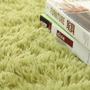 Image 2 - Arredamento Per la casa Ispessimento acqua lavata di seta di lana antiscivolo capelli lunghi tappeto soggiorno sala da tè da comodino yoga mat personalizzato grossisti