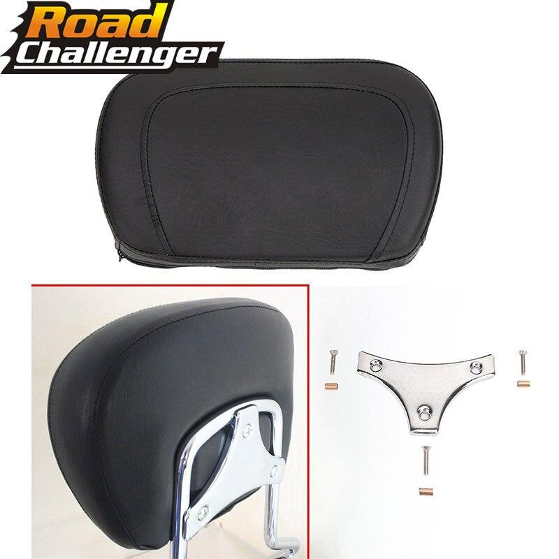 Chrome Motorcycle Sissy Bar Detachable Passenger Backrest Pad Models For  Harley Touring FLHRC FLHR FLHX 1997-13 14 15 16 17