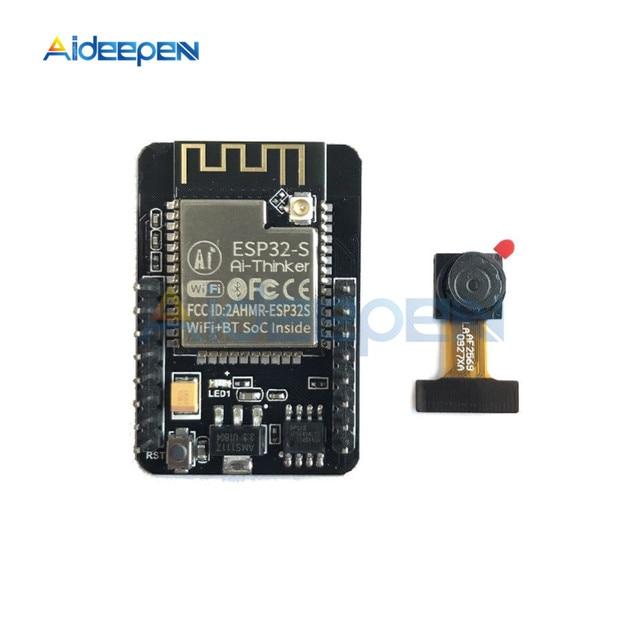 ESP32-CAM ESP32-S WIFI Bluetooth Board OV2640 2MP Wireless Camera Module TF Card Slot Wireless Expansion Module for Arduino