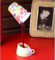 Creative DIY Coffee Cup LED Down Night Lamp Home USB Battery Pouring Coffee Table Light
