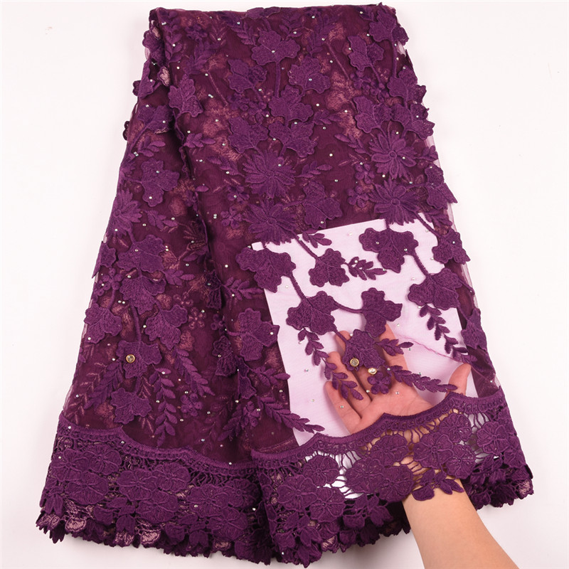 Newest Applique Milk Silk African Lace Fabric High Quality French Lace Fabric Nigerian Tulle Lace Fabric For Wedding Dress A1598