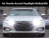 car LED Headlight Kit for Honda Accord 03 18 models 9005 HB3 h11 6000K Accord Light Bulbs 360 degree bright