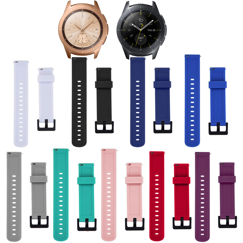 Fashion Soft Silicone Watch Strap Band For Samsung Galaxy Watch 42mm Replacement New Sports Bracelet Wrist Bands Strap Unisex