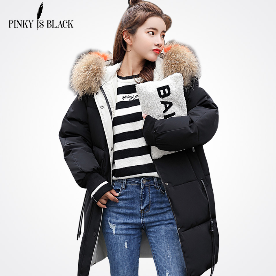 PinkyIsBlack 2018 New   Parkas   Female Women Winter Coat Thickening Cotton Winter Jacket Womens Outwear   Parkas   for Women Winter