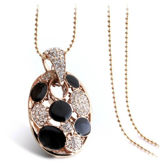 New Brand Designer Fashion Lady Enamel Long Chain Sweater Necklace Trendy Christmas Gifts Jewelry