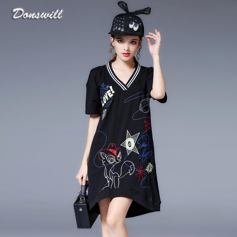 plus empire dress embroidery