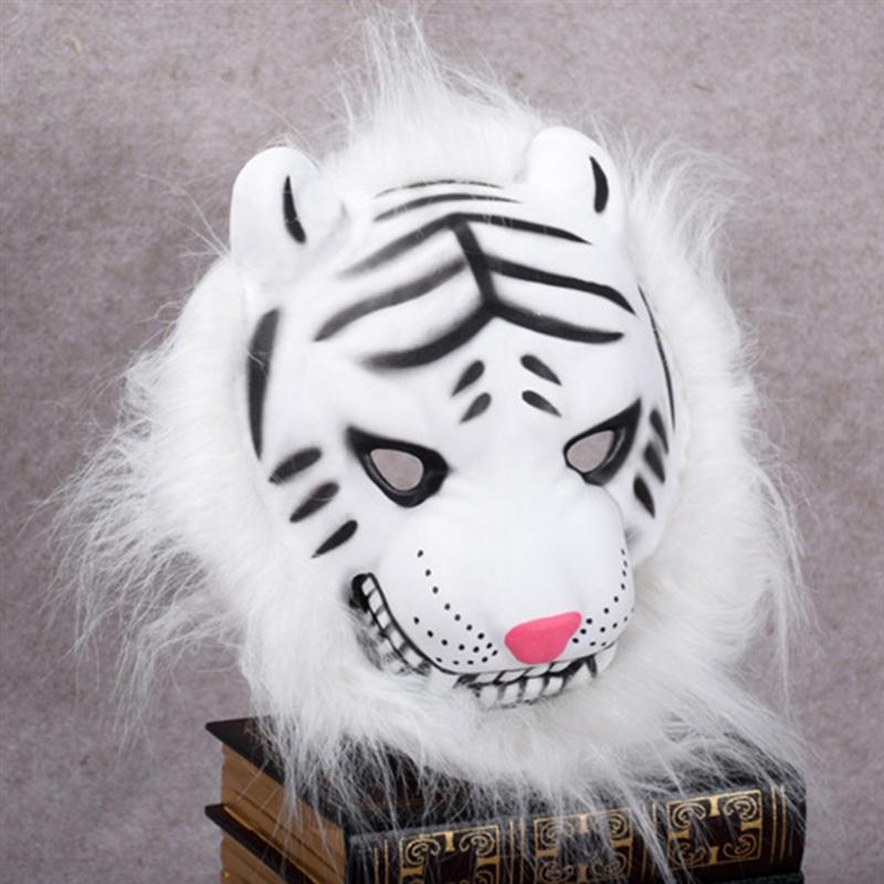 Halloween Horrible Creepy tamaño libre Toothy Tigre realista Cosplay ...