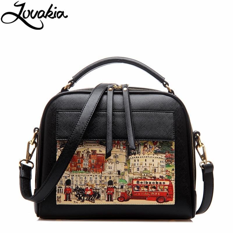 ФОТО Fashion Women Handbag Doodle Pattern Women Messenger Bag Shoulder Bag Crossbody Ladies Handbag Top-Handle Bag