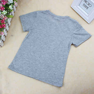 ילדים פעוט בני תינוק החוף בקיץ מזדמן מכנסיים תלבושות חולצות חולצות אפור מצלמה 3D