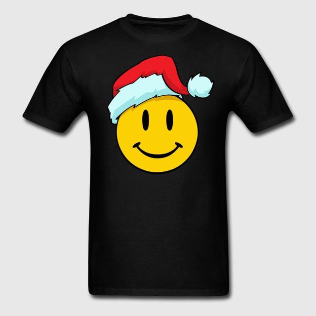 cute christmas smiley emoticon smiling face santa sweatshirt summer fashion high quality print new mens casual - Christmas Smiley Faces