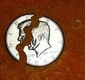 Mordedura Coin - ee.uu. Half Dollar - moneda y dinero magia con monedas apoyos calle magia de cerca magia. ilusión mágica mentales prop wholse