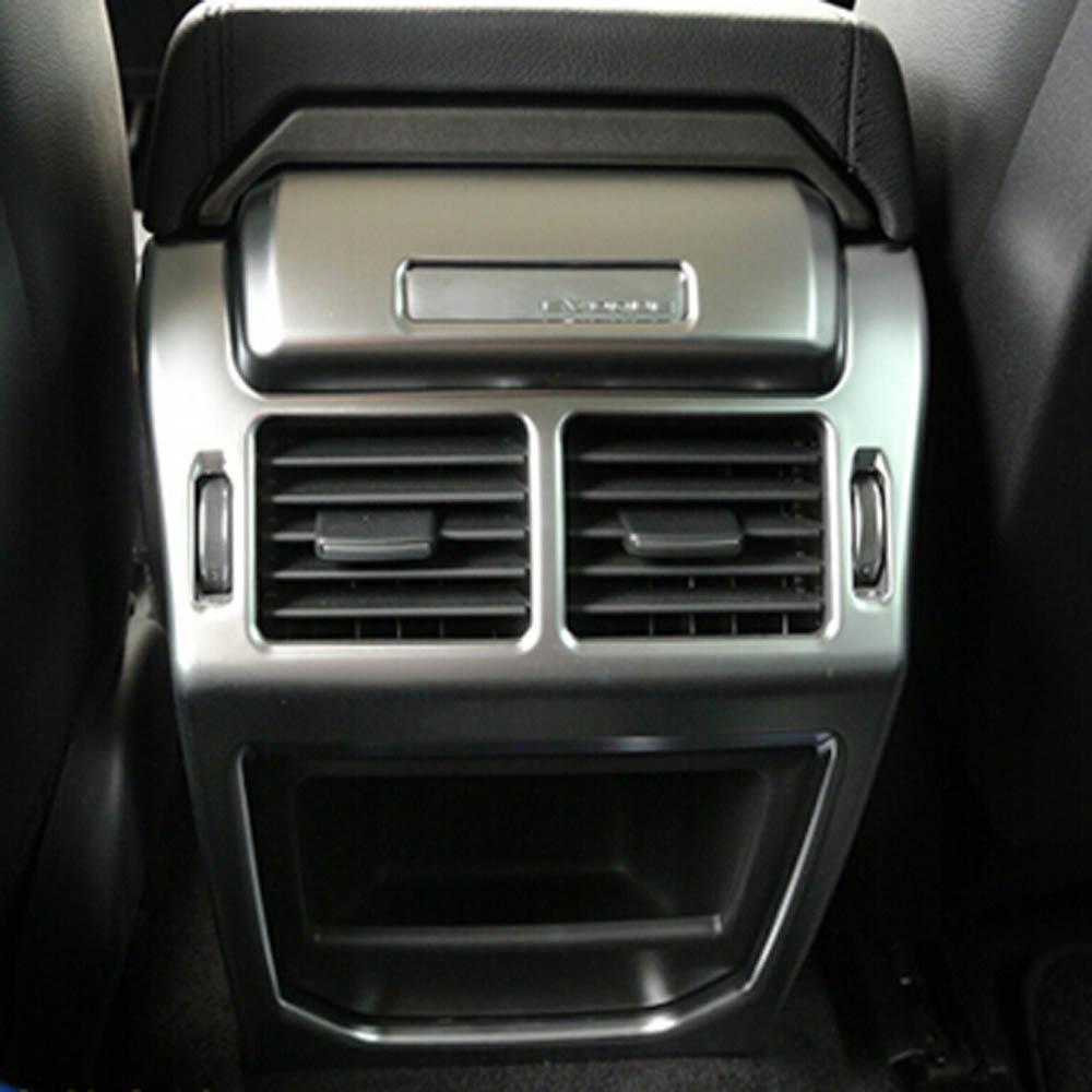 Center armrest rear back row passenger air vent decorative cover sticker trim for range rover evoque Interior accessories