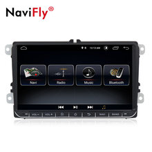"New! 9"" Android 8.1 Car GPS Navigation for VW Volkswagen SKODA GOLF 5 Golf 6 POLO PASSAT B5 B6 JETTA TIGUAN dvd player BT RDS(China)"