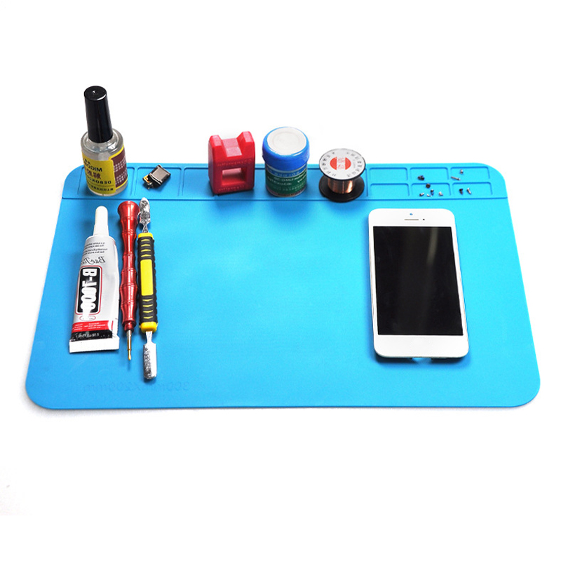 Heat Insulation BGA Soldering Station Working Mat Heat-resistant Silicone Pad Phone Repair Mat Insulator Maintenance Platform