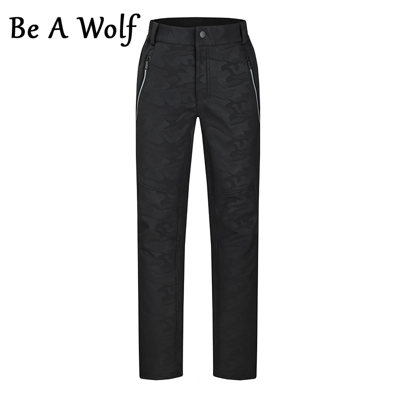Be A Wolf Men Women Hiking Pants Sport Outdoor Windproof Winter Warm Trekking Fishing Climbing Ski Camping Softshell Trousers
