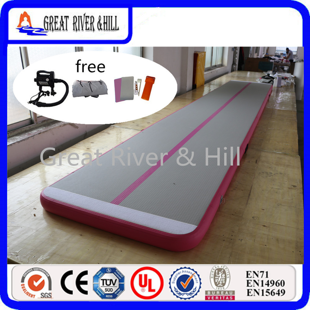 Great river & hill jumping mats air track good bounce with fedex shipping and pump 5m x1m x10cm