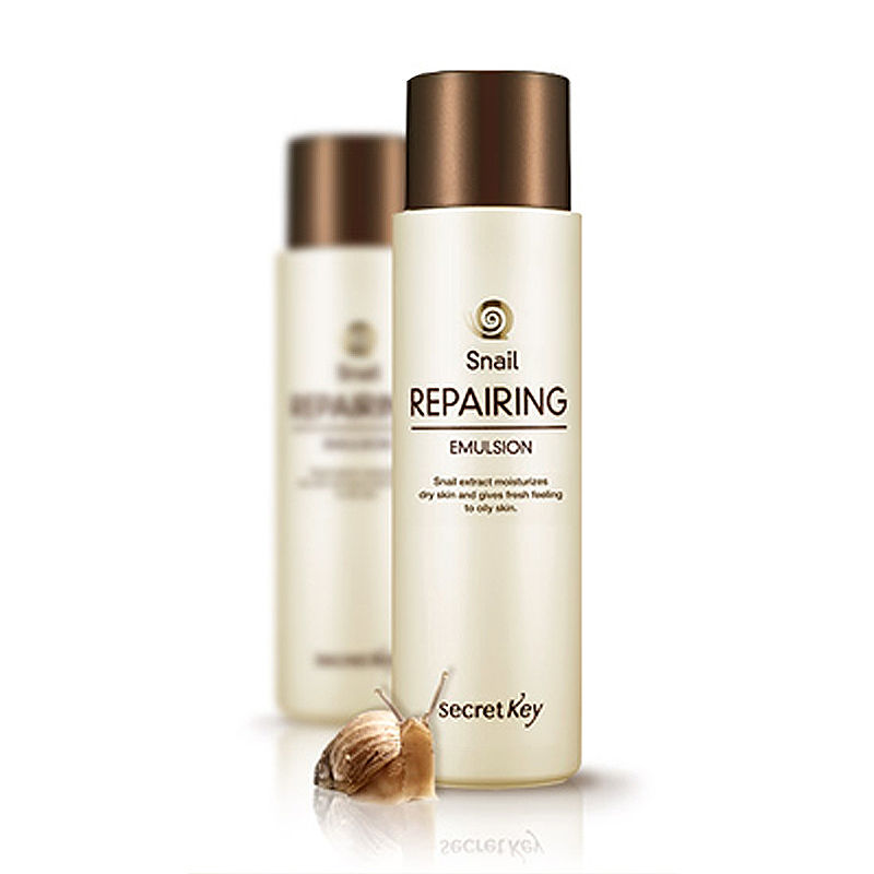 SECRET KEY Snail Repairing Emulsion 150ml/ Facial Cream Face Skin Care Moisturizing Revitalizing Elastic And Healthy Skin
