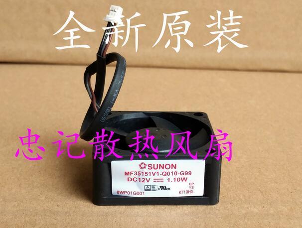 SUNON MF35151V1-Q010-G99 3515 35x35x15mm 3.5cm DC 12V 1.10W 3-wires projector fan sunon mf75251v1 q000 g99 server square fan dc 12v 2 7w 3 wire