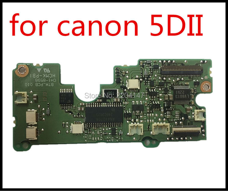 NEW Original new 5D MarKII 5D Mark II 5DII 5D2 bottom Mother board Driver board for canon 5D MarK II 5D II 5D2 100%new original 7d markii 7d mark ii 7d2 7dii flash board flash charge pcb board for canon 7d mark ii