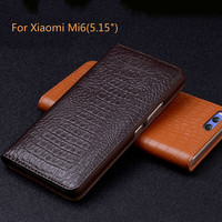 New Luxury Original Brand Genuine Crocodile Leather Phone Cases For Xiaomi Mi6 M6 Fashion Phone Bags