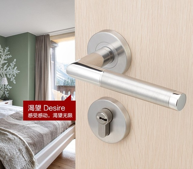 The German Brand Of Modern Interior Door Handle Door Handle Wood Copper  Lock Core Modern Minimalist