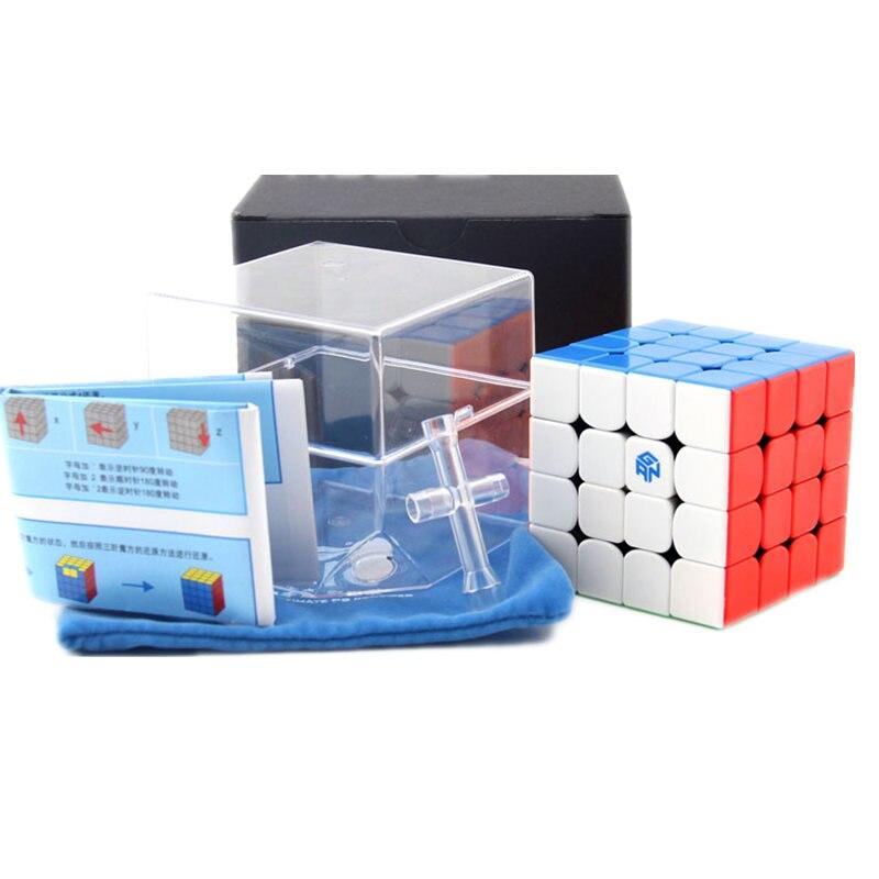 GAN 460 M Cube magnétique 4x4 Cube magique 4x4x4 Gan 460 M vitesse Gan460 M Cubo Magico 4*4 Puzzle professionnel sans autocollant Gan Cube