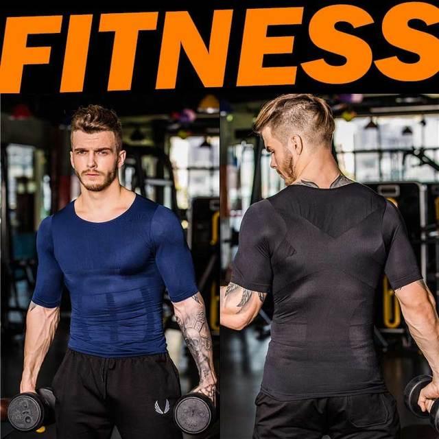 Men Shapers Ultra Sweat Thermal Muscle Shirt Neoprene Belly Slim Sheath Female Corset Abdomen Belt Shapewear Zip Tops Vest NY094 4