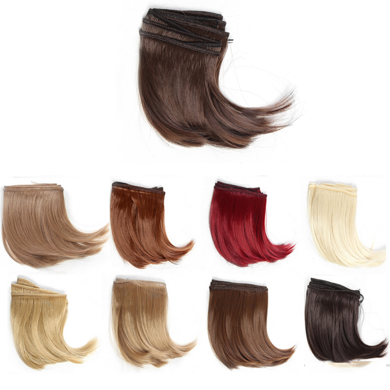 8PCS/LOT 10*100CM Black/Blond/<font><b>Brown</b></font> Synthetic Dolls Hair <font><b>1/3</b></font> 1/4 <font><b>BJD</b></font> <font><b>Wig</b></font> Doll DIY image
