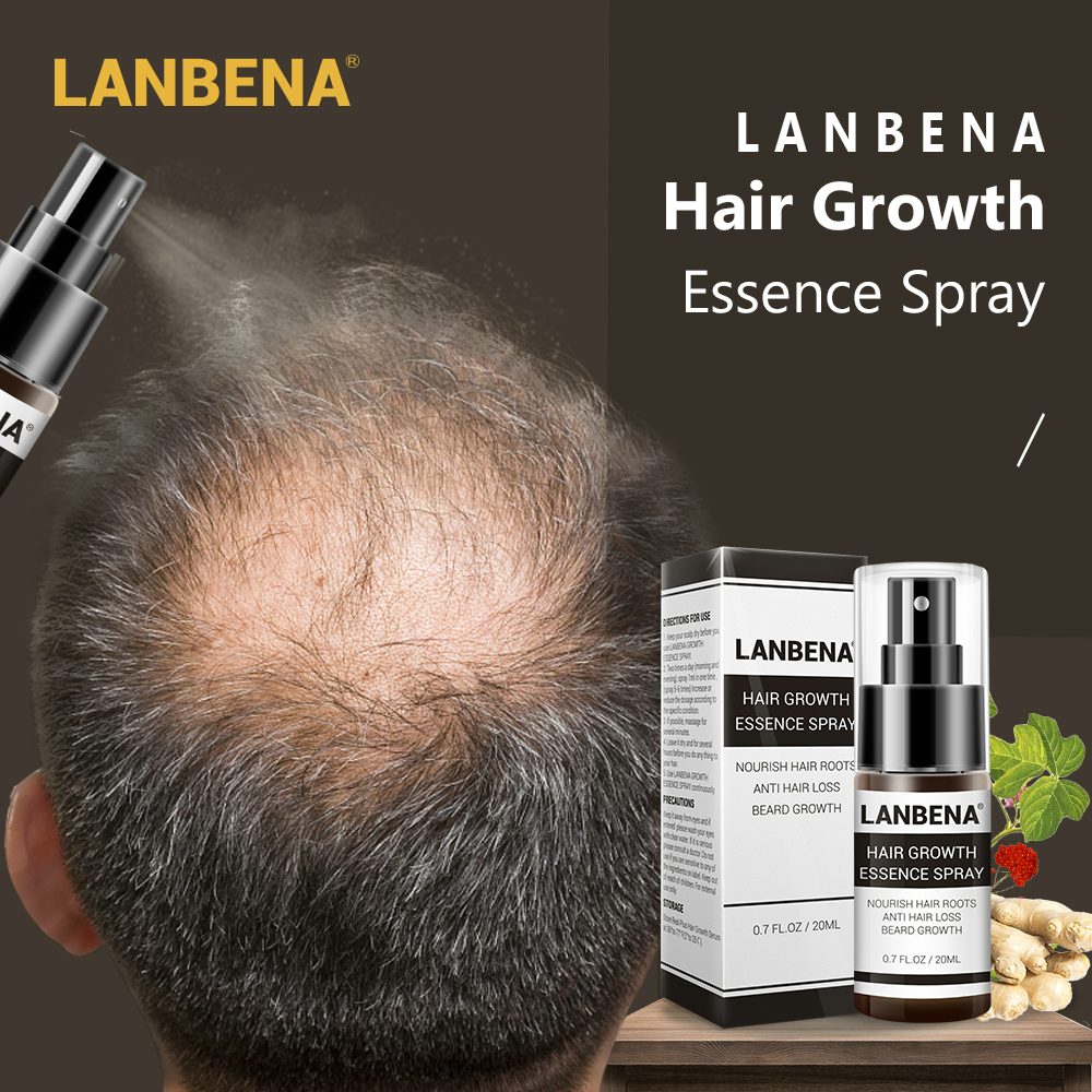 LANBENA Hair Growth Essence Spray Product Preventing Baldness Consolidating Anti Hair Loss Nourish Roots Easy To Carry Hair Care Pakistan