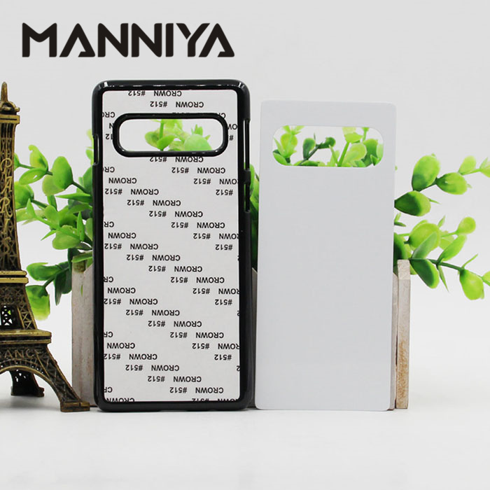 MANNIYA for Samsung Galaxy S10 S10 plus S10 lite Sublimation Blank plastic Case with Aluminum Inserts