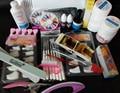 2018 Pro UV Gel Nail Art Tool Kits Sets UV lamp Brush Remover nail tips glue acrylic Ms Coco