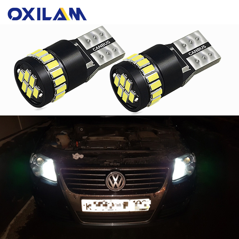 2x LED T10 W5W Clearance Lights Car Parking Light For VW POLO Golf 4 5 6 7 GTI Passat B6 B5 JETTA MK5 MK6 CC EOS Touareg Beetle