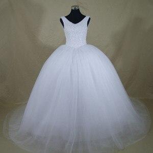 Image 3 - 2020 New Luxury Bling Bling Wedding Dress Custom made Plus Size Bride Wedding Gown Vestido De Noiva