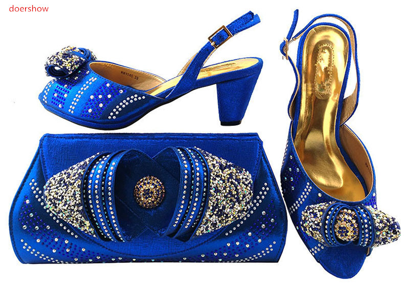 doershow Italian Shoes with Matching bags For party african Shoes And Bags to match set high quality ladies matching LULU1-43 2016 italian shoes with matching bags for party high quality african shoes and bags set for wedding