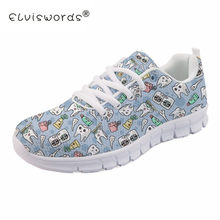 ELVISWORDS Dentist Teeth Nurse Sneakers Women Casual Flats Shoes For Teenager Girls White Flat Ladies Female 2019 Dropshipping(China)