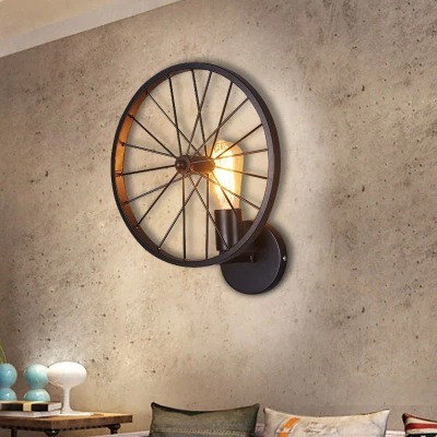 individual character dining-room wall lamp American rural wind wheel of lamps and lanterns lamp, wrought iron industryindividual character dining-room wall lamp American rural wind wheel of lamps and lanterns lamp, wrought iron industry