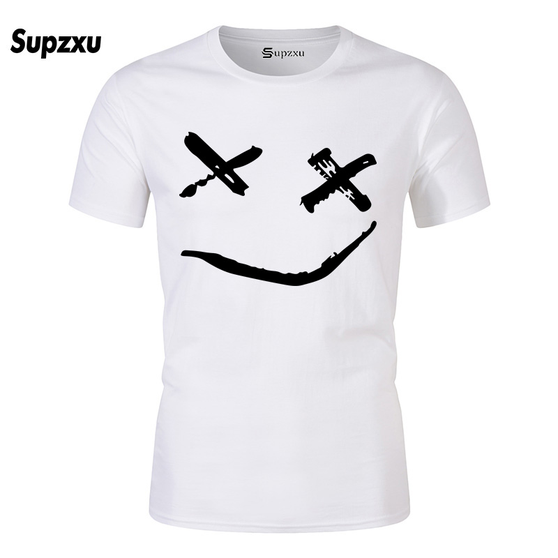 2018 New High quality brand men T-shirt casual short sleeve o-neck fashion printed cotton t shirt men /woman smile tees shirt