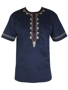 Image 1 - 2019 Novo roupas Masculinas bordado roupas desgaste muçulmano africano dashiki Africano